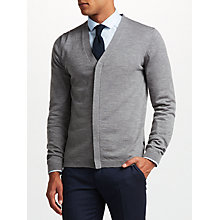 Buy J. Lindeberg Merino Wool Cardigan, Light Grey Online at johnlewis.com
