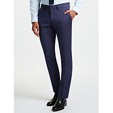 Buy J.Lindeberg Fancy Wool Semi Plain Slim Fit Suit Trousers, Blue Online at johnlewis.com
