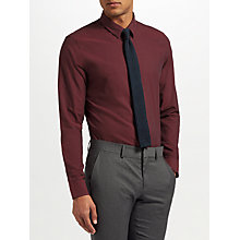 Buy J.Lindeberg Texture Shirt, Burgundy Online at johnlewis.com