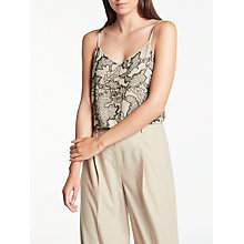 Buy Modern Rarity Beaded Cami Top, Natural Online at johnlewis.com