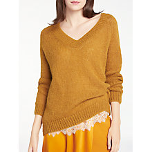 Buy Modern Rarity Chunky V-Neck Jumper, Caramel Online at johnlewis.com