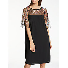 Buy Somerset by Alice Temperley Lily Fireflower Dress, Black Online at johnlewis.com