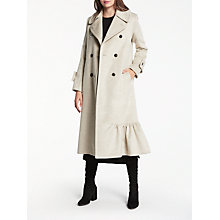 Buy Modern Rarity Eudon Choi Frill Hem Coat, Champagne Online at johnlewis.com