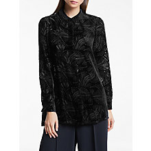 Buy Bruce by Bruce Oldfield Button Through Devore Blouse, Black Online at johnlewis.com