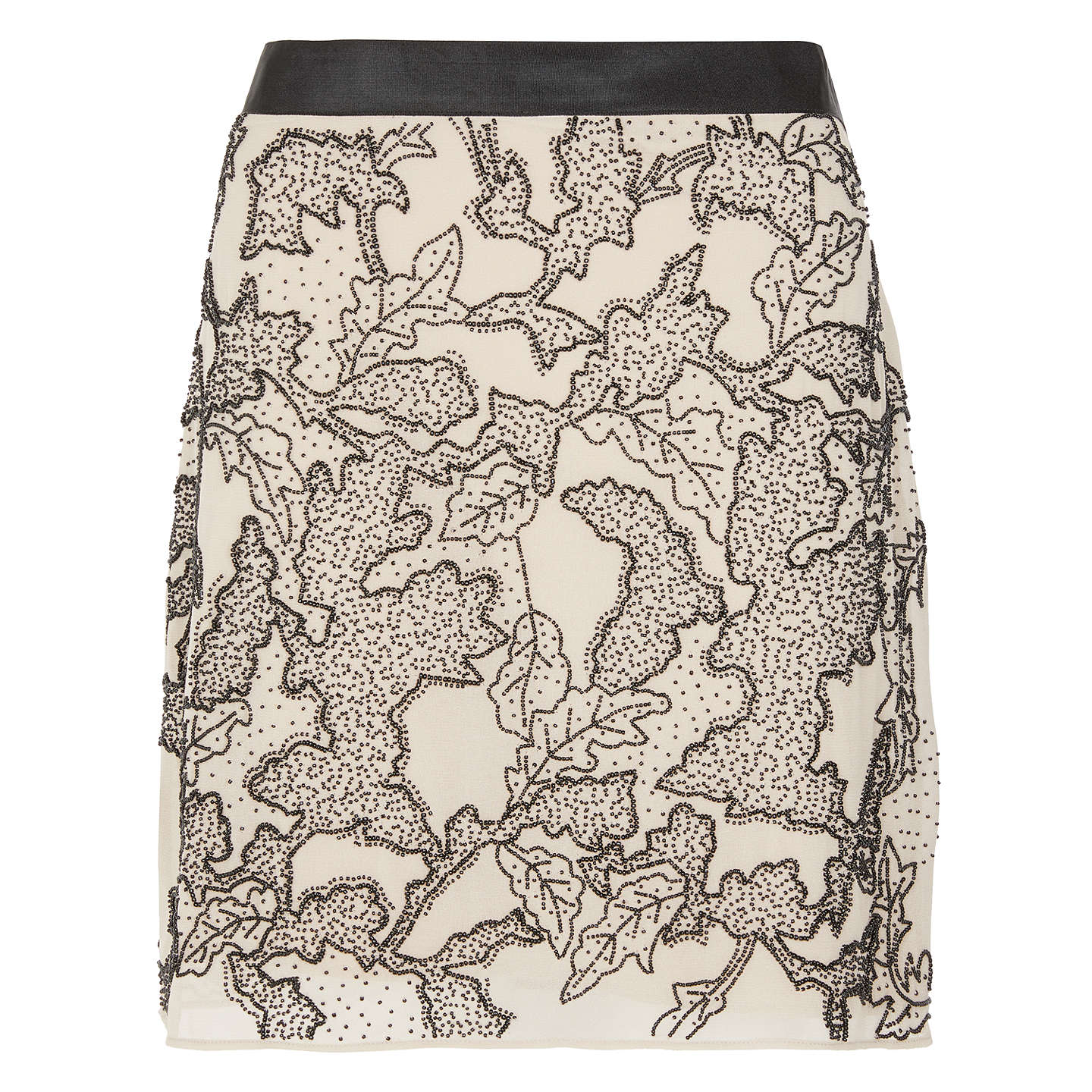 BuyModern Rarity Beaded Mini Skirt, Neutral, 8 Online at johnlewis.com