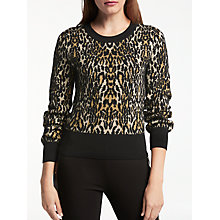 Buy Somerset by Alice Temperley Leopard Print Jumper, Natural Online at johnlewis.com