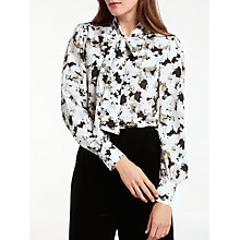 Buy Bruce by Bruce Oldfield Silk Peashoot Print Blouse, Black/Multi Online at johnlewis.com
