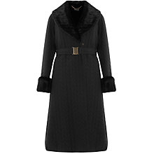 Buy Bruce by Bruce Oldfield Long Quilted Faux Fur Trimmed Coat Online at johnlewis.com