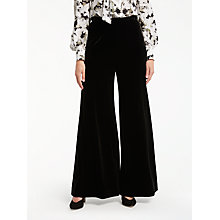 Buy Bruce by Bruce Oldfield Velvet Trousers, Black Online at johnlewis.com