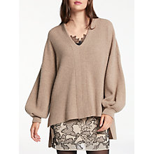 Buy Modern Rarity Cashmere Vee Pleat Sleeve Jumper Online at johnlewis.com