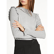 Buy Somerset by Alice Temperley Frill Seam Knit Jumper, Grey Marl Online at johnlewis.com
