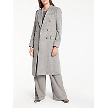 Buy Modern Rarity Eudon Choi Drawn Double Breasted Coat, Grey Online at johnlewis.com