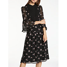 Buy Somerset by Alice Temperley Daisy Embroidery Dress, Black Online at johnlewis.com