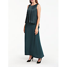 Buy Bruce by Bruce Oldfield Double Layer Maxi Dress, Forest Green Online at johnlewis.com
