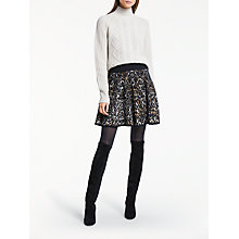 Buy Somerset by Alice Temperley Leopard Print Knit Skirt, Natural Online at johnlewis.com