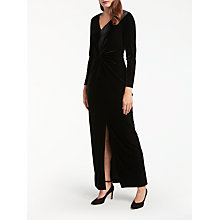 Buy Bruce by Bruce Oldfield Twist Velvet Maxi Dress, Black Online at johnlewis.com