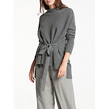 Buy Modern Rarity Belted Cashmere Jumper, Mid Grey Online at johnlewis.com