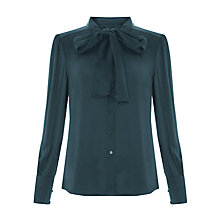 Buy Bruce by Bruce Oldfield Pleat Cuff Blouse, Forest Green Online at johnlewis.com