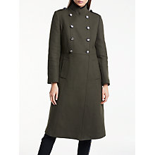 Buy Somerset by Alice Temperley Military Coat, Khaki Online at johnlewis.com