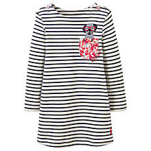 Buy Baby Joule Kaye Dog Applique Dress, Black/White Online at johnlewis.com