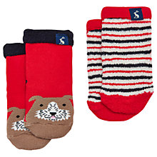 Buy Baby Joule Terry Dog Socks, Pack of 2, Red/Multi Online at johnlewis.com