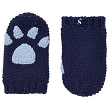 Buy Baby Joule Paw Mittens, French Navy Online at johnlewis.com