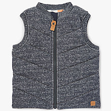 Buy John Lewis Baby Artroom Chambray Look Gilet, Navy Online at johnlewis.com