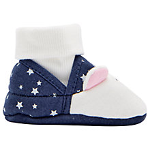 Buy Baby Joule Polar Bear Slippers, Navy/Cream Online at johnlewis.com
