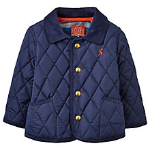 Buy Baby Joule Milford Quilted Jacket, French Navy Online at johnlewis.com