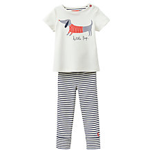 Buy Baby Joule Stevie Sausage Dog Top and Trousers Set, Cream Online at johnlewis.com