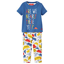 Buy Baby Joule Zach Cars Top and Bottoms Set, Blue Online at johnlewis.com
