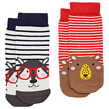 Buy Baby Joules Neat Feet Bear Socks, Pack of 2, Red/Multi Online at johnlewis.com