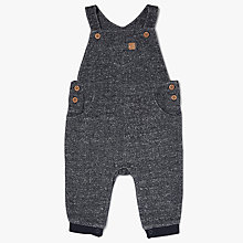 Buy John Lewis Baby Artroom Denim Look Dungarees, Navy Online at johnlewis.com