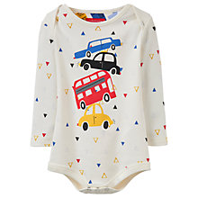 Buy Baby Joule Snazzy Traffic Bodysuit, Cream Online at johnlewis.com