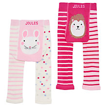 Buy Baby Joules Lively Footless Mouse Leggings, Pack of 2, Pink Online at johnlewis.com