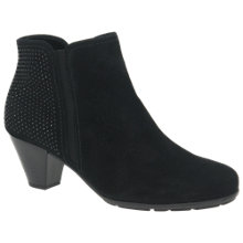 Buy Gabor Freesia Block Heeled Ankle Boots, Black Online at johnlewis.com