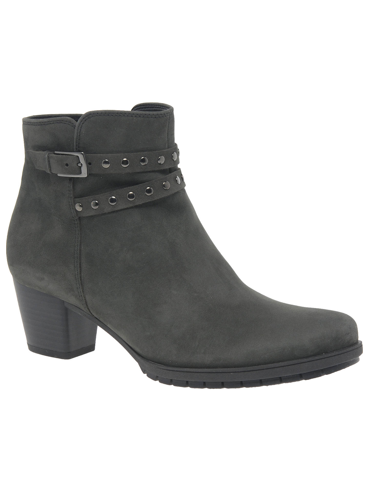 excellent quality super quality official supplier Gabor Treat Extra Wide Fit Block Heeled Ankle Boots, Dark ...