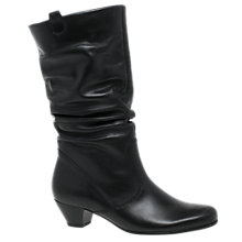 Buy Gabor Rachel Block Heeled Calf Boots, Black Online at johnlewis.com