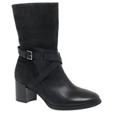 Buy Gabor Laverne Block Heeled Mid Boots, Black/Grey Online at johnlewis.com