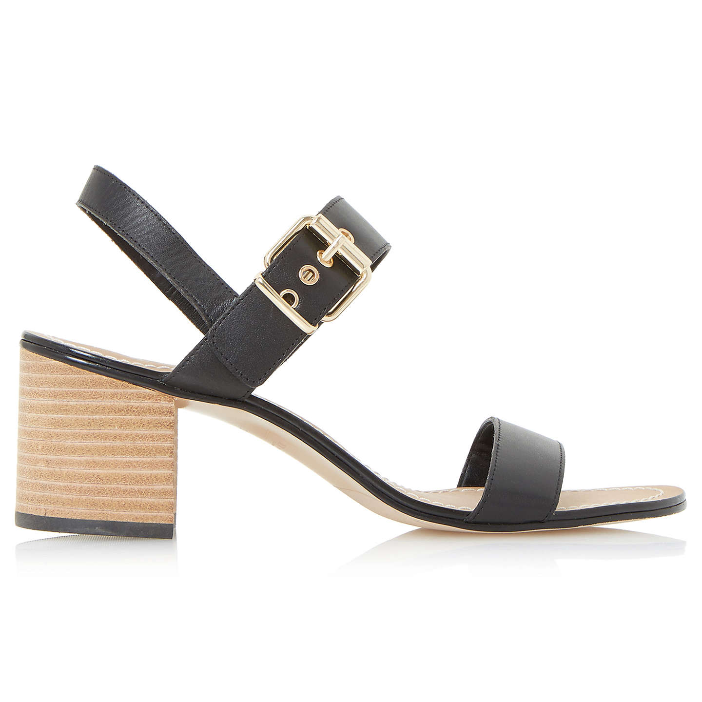 Dune Jany Leather Stack Heel Sandal R75CWBLh