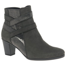 Buy Gabor Surrey Block Heeled Ankle Boots, Anthracite Online at johnlewis.com