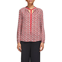 Buy Whistles Alisha Print Blouse, Pink/Multi Online at johnlewis.com