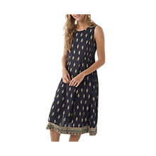 Buy Fat Face Connie Savanna Geo Print Dress, Phantom Online at johnlewis.com