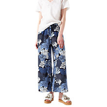 Buy Jigsaw Camo Floral Trousers, Dark Navy Online at johnlewis.com