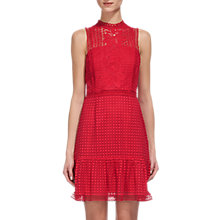 Buy Whistles Flo Embroidered Dress, Raspberry Online at johnlewis.com