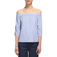 Buy Whistles Stripe Bardot Top, Blue Online at johnlewis.com