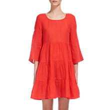 Buy Whistles Linen Gauze Tunic Dress, Coral Online at johnlewis.com
