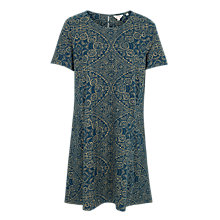 Buy Fat Face Simone Batik Linear Dress, Blue Sea Online at johnlewis.com