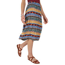 Buy Fat Face Collier Tribal Geo Midi Skirt, Multi Online at johnlewis.com