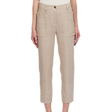 Buy Whistles Relaxed Linen Trousers, Neutral Online at johnlewis.com